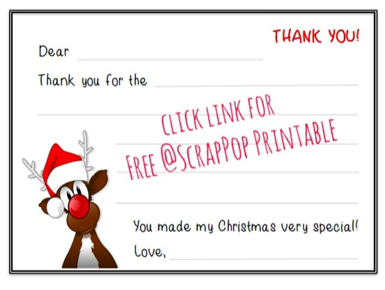 free christmas thank you cards printables